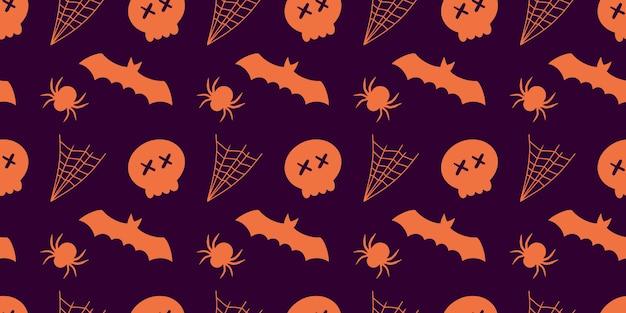 Halloween feestelijke naadloze patroon achtergrond