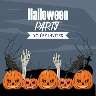 Halloween-feestkaart