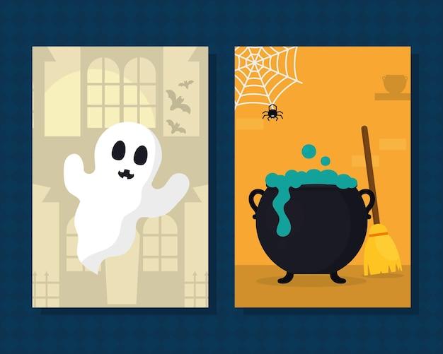 Halloween-feestkaarten