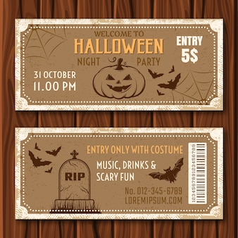 Halloween-feestkaartjes