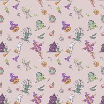 Halloween fest naadloos patroon