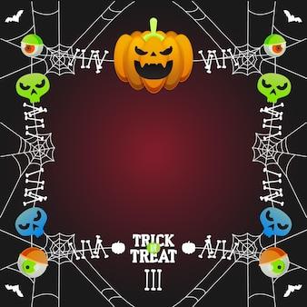 Halloween festival frame stijl