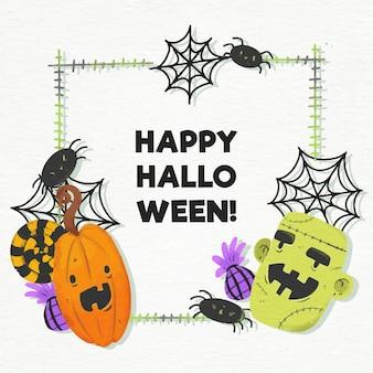 Halloween festival frame