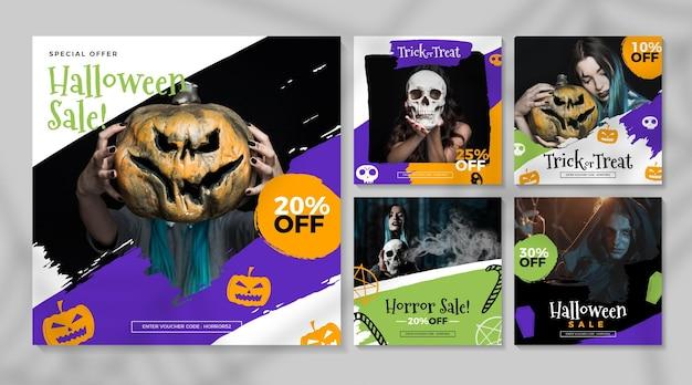 Halloween festival instagram berichten concept