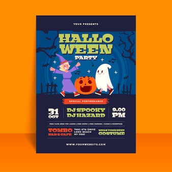 Halloween festival partij poster sjabloon