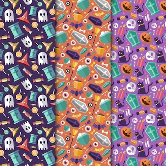 Halloween festival patroon ingesteld