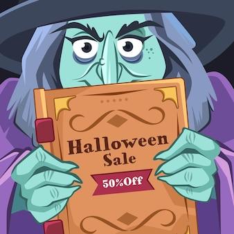 Halloween festival verkoop concept