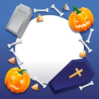 Halloween-frame met realistische elementen
