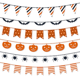 Halloween garland-collectie.