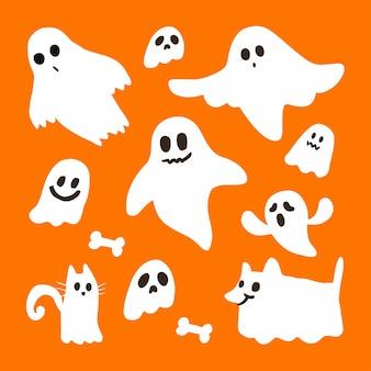 Halloween geest decorontwerp