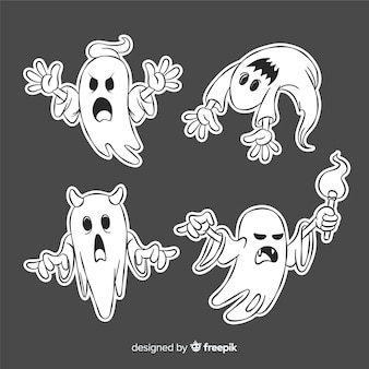 Halloween-geest die grappige gezichten maakt