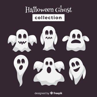 Halloween-geesteninzameling in verschillende stellen