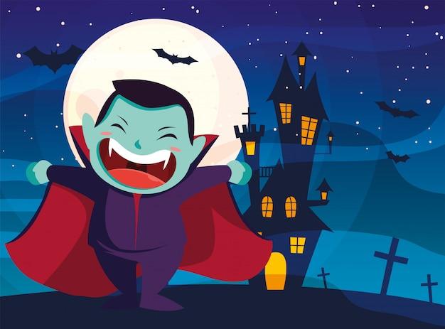 Halloween gekostumeerd kind