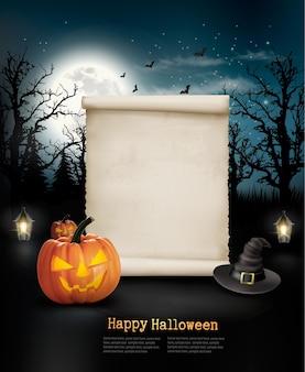Halloween griezelige achtergrond. vector