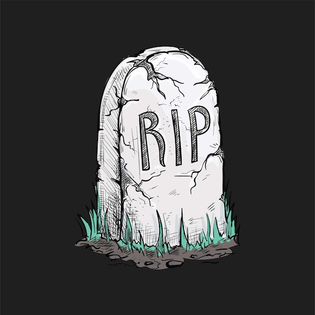 Halloween griezelige grafsteen illustratie