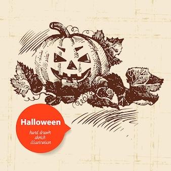 Halloween handgetekende illustratie