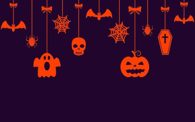 Halloween hangende ornamenten achtergrond
