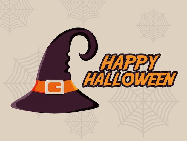 Halloween heks hoed illustratie