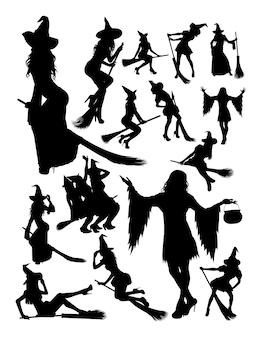 Halloween-heksensilhouet