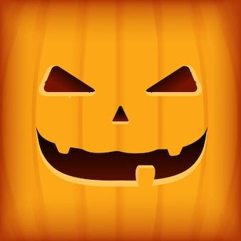 Halloween-het ontwerpmalplaatje van de groetkaart met oranje pompoen
