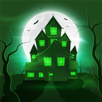 Halloween-huis in realistische stijl