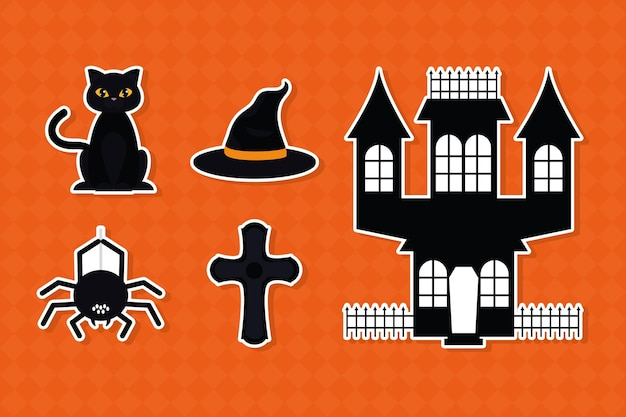 Halloween icoon collectie