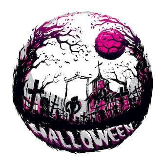 Halloween in de donkere nacht