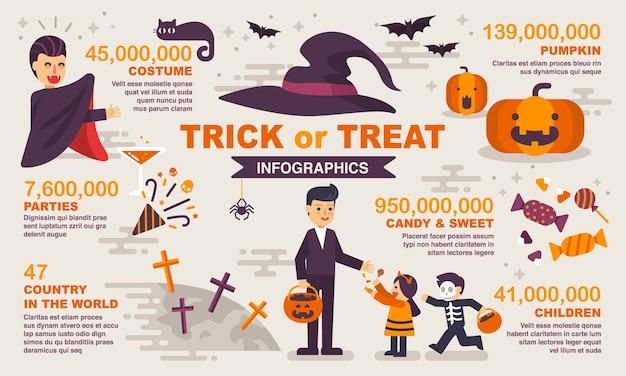Halloween infographic-element.