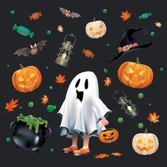 Halloween ingesteld