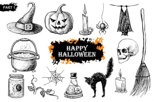 Halloween ingesteld.