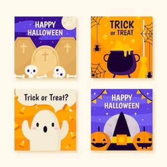 Halloween instagram-bericht