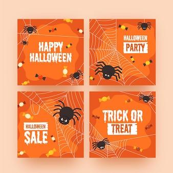 Halloween instagram posts-collectie