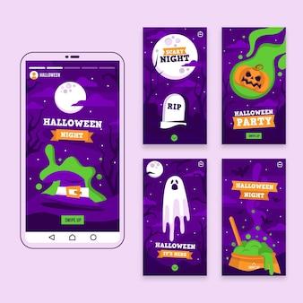 Halloween instagram verhalen collectie