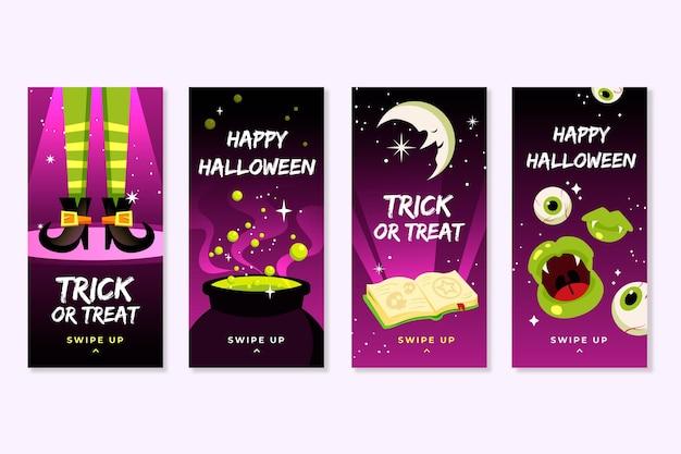 Halloween instagram-verhalen instellen