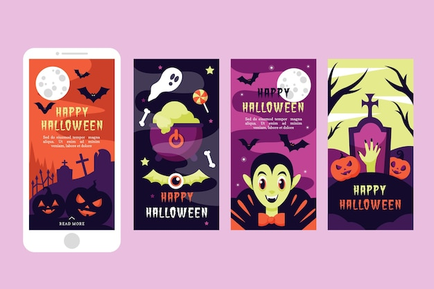 Halloween instagram verhalen websjabloon