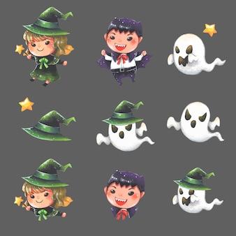 Halloween jongen cartoon clipart