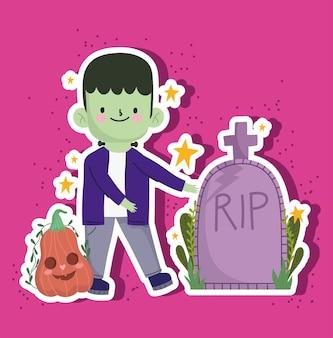 Halloween jongen monster