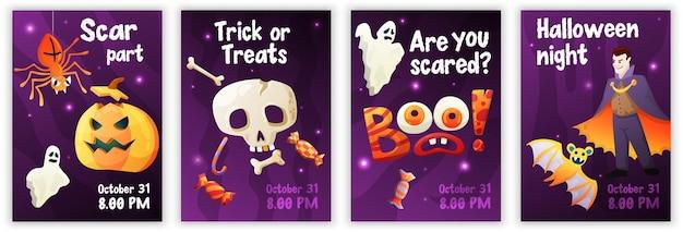 Halloween-kaart en posters