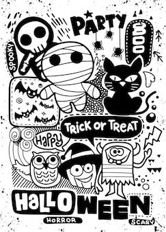 Halloween-kaart met feestuitnodigingen