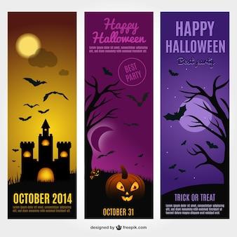 Halloween kaarten gratis vector template
