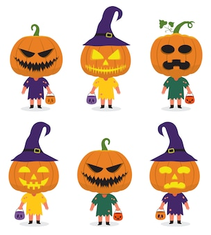 Halloween karakter pumkins