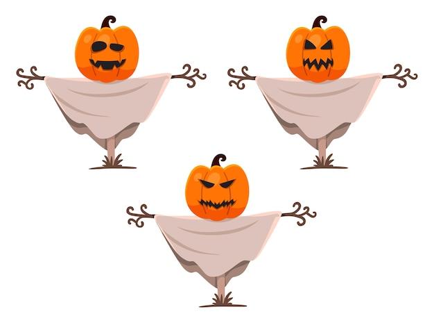 Halloween-karakterpompoenen met lichaam