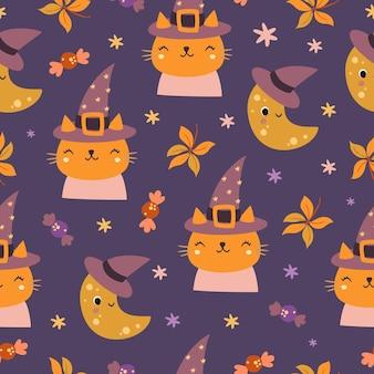 Halloween kattenpatroon