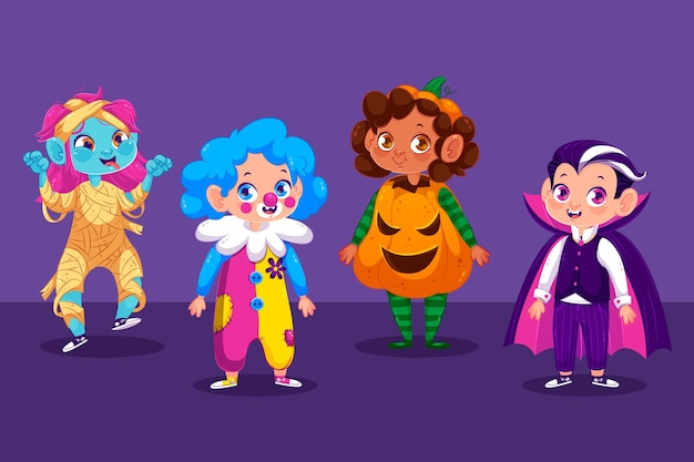 Halloween kid collectie concept