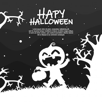 Halloween kinder kostuum partij silhouet