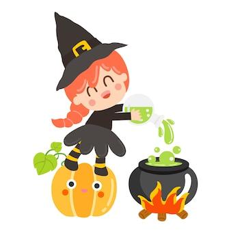 Halloween kinder kostuum partij.