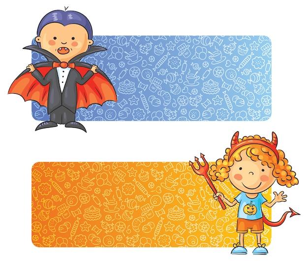 Halloween kinderen banners