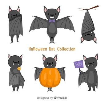 Halloween-knuppel in hand getrokken stijl als achtergrond