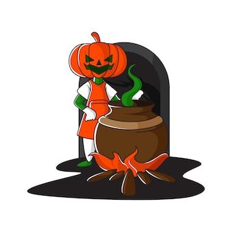 Halloween, kwaadaardig heksenkostuum