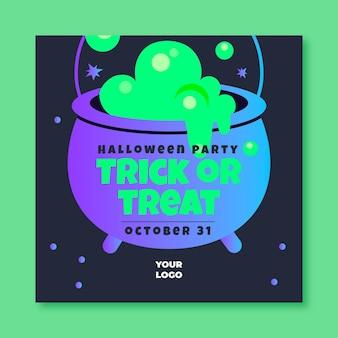 Halloween kwadraat flyer-sjabloon
